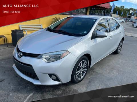 2016 Toyota Corolla for sale at AUTO ALLIANCE LLC in Miami FL