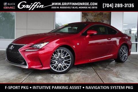2016 Lexus RC 200t for sale at Griffin Buick GMC in Monroe NC
