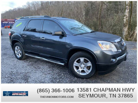 2011 GMC Acadia for sale at Union Motors in Seymour TN