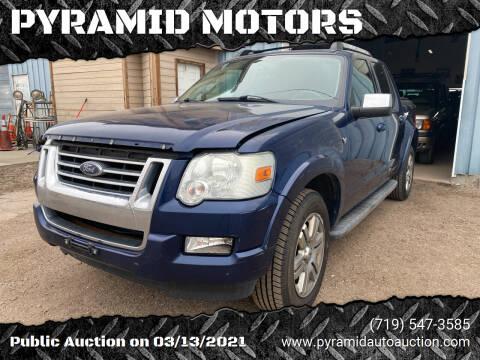 2008 Ford Explorer Sport Trac for sale at PYRAMID MOTORS - Pueblo Lot in Pueblo CO