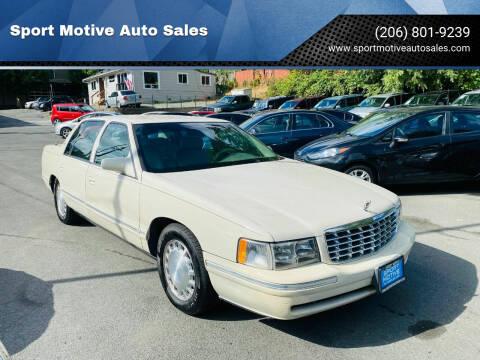 1997 Cadillac DeVille for sale at Sport Motive Auto Sales in Seattle WA