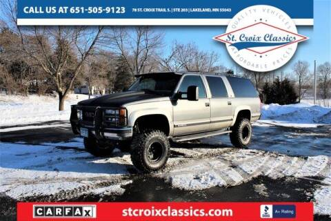 1999 GMC Suburban for sale at St. Croix Classics in Lakeland MN