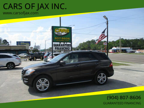 2014 Mercedes-Benz M-Class for sale at CARS OF JAX INC. in Jacksonville FL