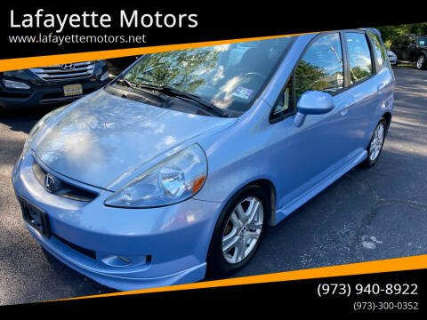 2008 Honda Fit for sale at Lafayette Motors in Lafayette NJ