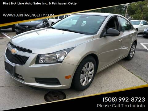 2013 Chevrolet Cruze for sale at First Hot Line Auto Sales Inc. & Fairhaven Getty in Fairhaven MA
