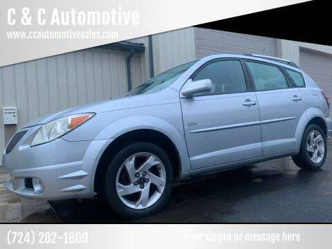 2005 Pontiac Vibe for sale at C & C Automotive in Chicora PA