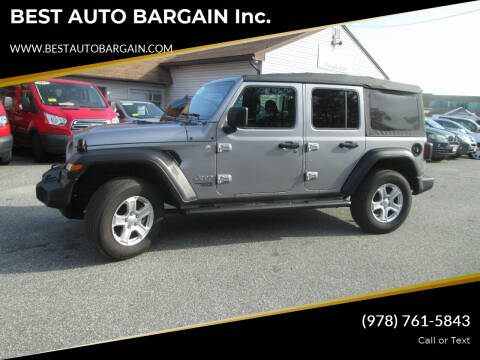 2019 Jeep Wrangler Unlimited for sale at BEST AUTO BARGAIN inc. in Lowell MA