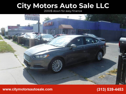 2014 Ford Fusion Hybrid for sale at City Motors Auto Sale LLC in Redford MI
