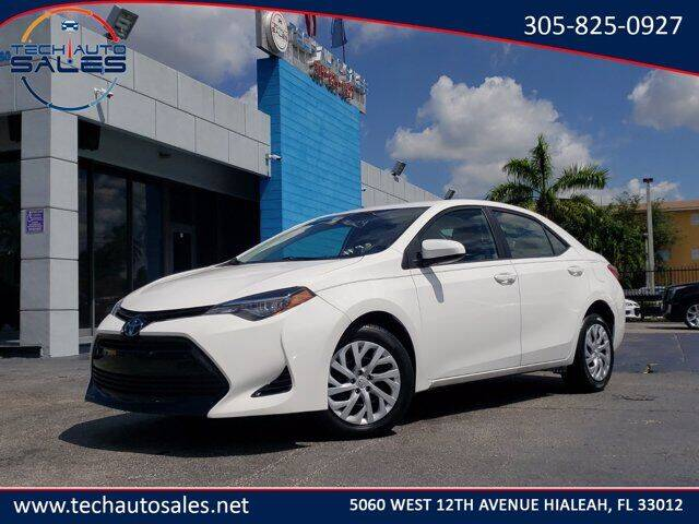 2017 Toyota Corolla for sale at Tech Auto Sales in Hialeah FL