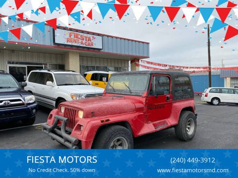 1993 Jeep Wrangler for sale at FIESTA MOTORS in Hagerstown MD