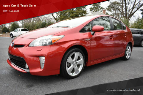 2013 Toyota Prius for sale at Apex Car & Truck Sales in Apex NC