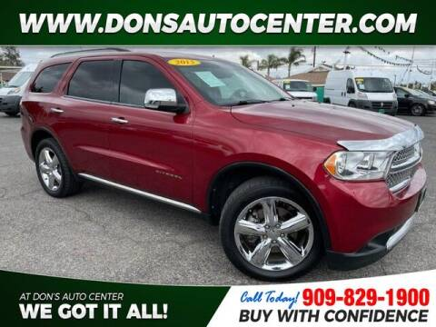 2013 Dodge Durango for sale at Dons Auto Center in Fontana CA