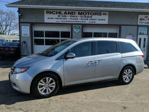 2016 Honda Odyssey for sale at Richland Motors in Cleveland OH