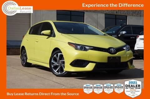 2018 Toyota Corolla iM for sale at Dallas Auto Finance in Dallas TX