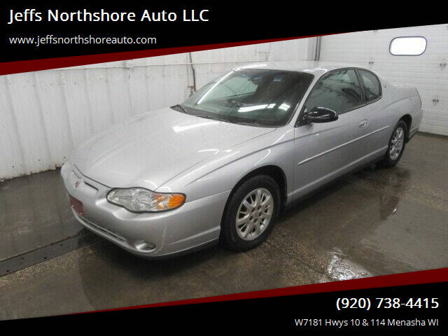 2002 Chevrolet Monte Carlo for sale at Jeffs Northshore Auto LLC in Menasha WI