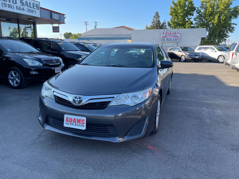 2013 Toyota Camry for sale at Adams Auto Sales in Sacramento CA