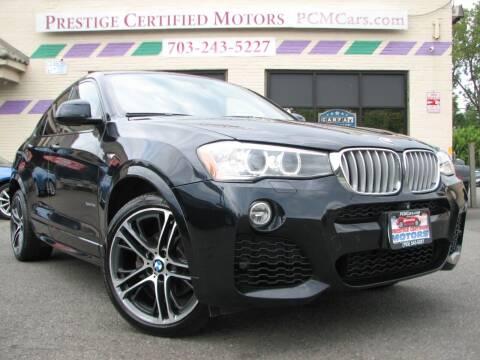 2015 BMW X4 for sale at Prestige Certified Motors in Falls Church VA