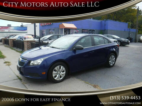 2012 Chevrolet Cruze for sale at City Motors Auto Sale LLC in Redford MI