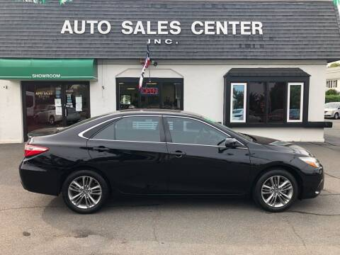 2016 Toyota Camry for sale at Auto Sales Center Inc in Holyoke MA