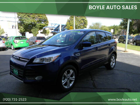 2015 Ford Escape for sale at Boyle Auto Sales in Appleton WI