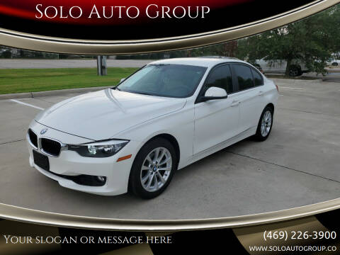 2016 BMW 3 Series for sale at Solo Auto Group in Mckinney TX