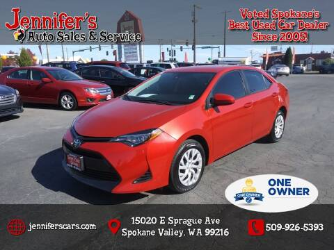 2019 Toyota Corolla for sale at Jennifer's Auto Sales in Spokane Valley WA