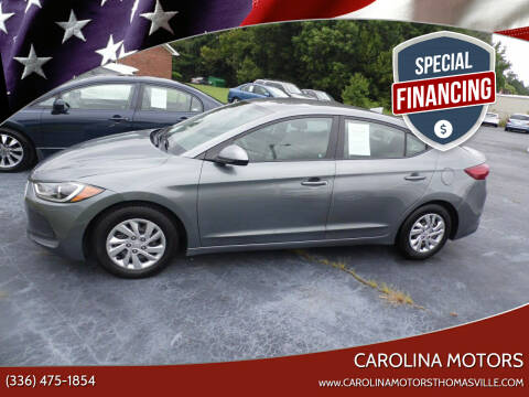 2017 Hyundai Elantra for sale at CAROLINA MOTORS - Carolina Classics & More-Thomasville in Thomasville NC