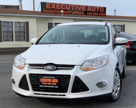 2012 Ford Focus for sale at Executive Auto in Winchester VA