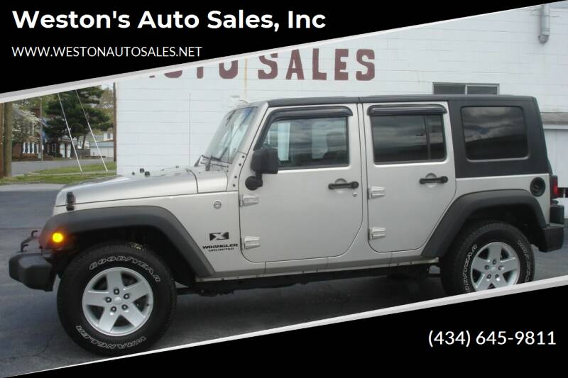 2007 Jeep Wrangler Unlimited for sale at Weston's Auto Sales, Inc in Crewe VA