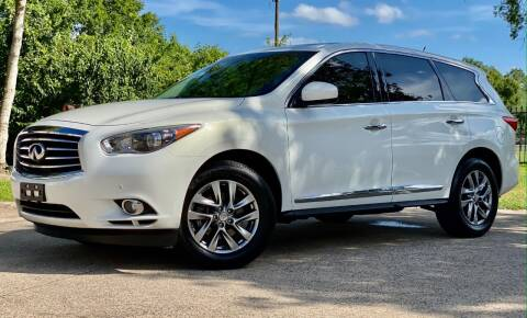 2013 Infiniti JX35 for sale at Texas Auto Corporation in Houston TX