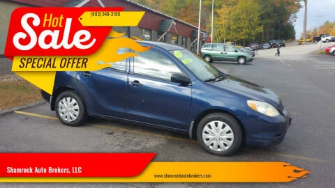 2004 Toyota Matrix for sale at Shamrock Auto Brokers, LLC in Belmont NH