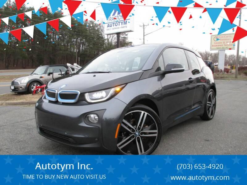 2017 BMW i3 for sale at AUTOTYM INC in Fredericksburg VA