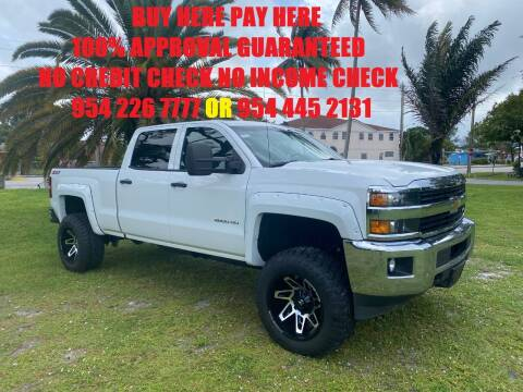 2015 Chevrolet Silverado 2500 for sale at Transcontinental Car USA Corp in Fort Lauderdale FL