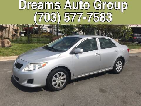 2009 Toyota Corolla for sale at Dreams Auto Group LLC in Sterling VA
