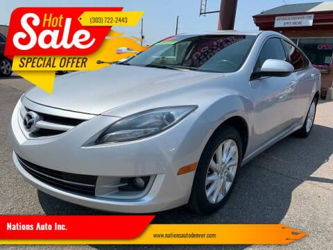 2013 Mazda MAZDA6 for sale at Nations Auto Inc. in Denver CO