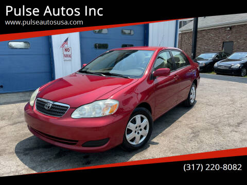 2007 Toyota Corolla for sale at Pulse Autos Inc in Indianapolis IN