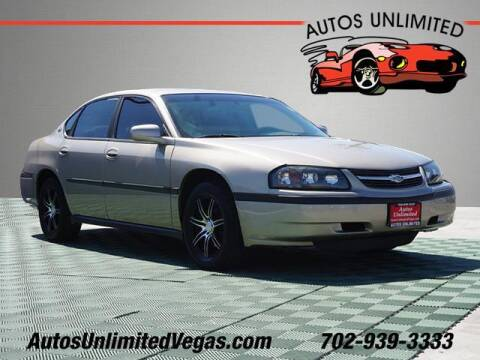 2003 Chevrolet Impala for sale at Autos Unlimited in Las Vegas NV
