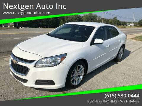 2014 Chevrolet Malibu for sale at Nextgen Auto Inc in Smithville TN
