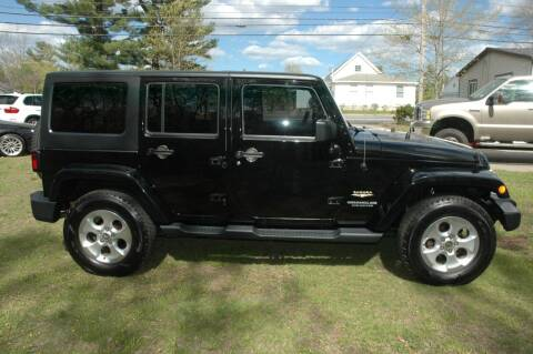2014 Jeep Wrangler Unlimited for sale at Bruce H Richardson Auto Sales in Windham NH
