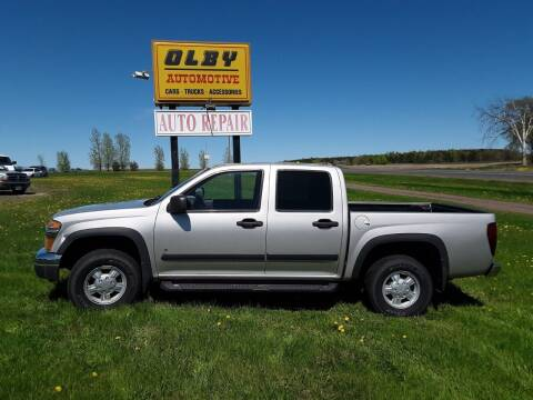 2006 Chevrolet Colorado for sale at OLBY AUTOMOTIVE SALES in Frederic WI