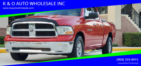 2011 RAM Ram Pickup 1500 for sale at K & O AUTO WHOLESALE INC in Jacksonville FL