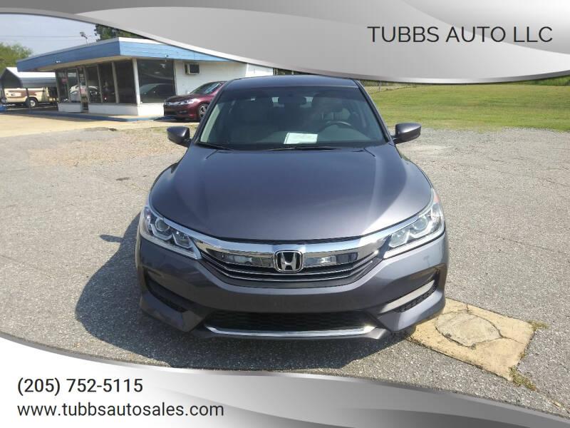 2017 Honda Accord for sale at Tubbs Auto LLC in Tuscaloosa AL