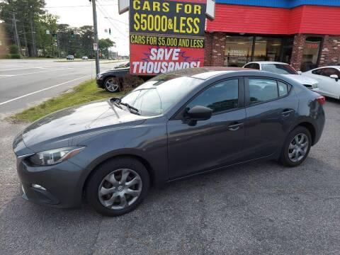 2015 Mazda MAZDA3 for sale at HW Auto Wholesale in Norfolk VA
