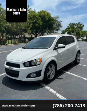 2012 Chevrolet Sonic for sale at Maxicars Auto Sales in West Park FL