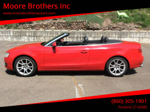 2011 Audi A5 for sale at Moore Brothers Inc in Portland CT