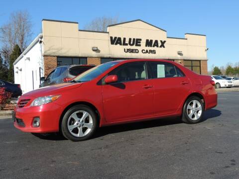 2013 Toyota Corolla for sale at ValueMax Used Cars in Greenville NC