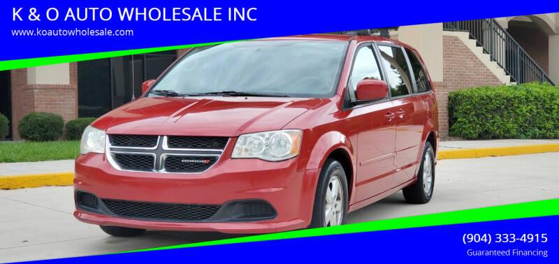 2013 Dodge Grand Caravan for sale at K & O AUTO WHOLESALE INC in Jacksonville FL