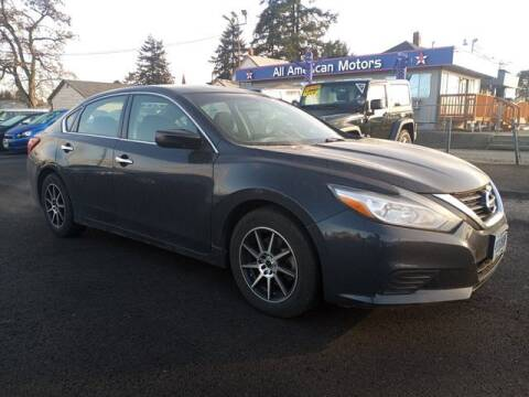 2016 Nissan Altima for sale at All American Motors in Tacoma WA
