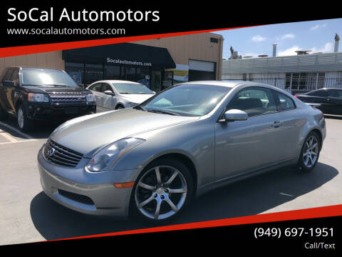 2004 Infiniti G35 for sale at SoCal Automotors in Costa Mesa CA