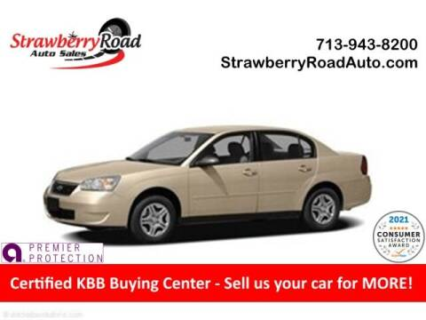 2006 Chevrolet Malibu for sale at Strawberry Road Auto Sales in Pasadena TX